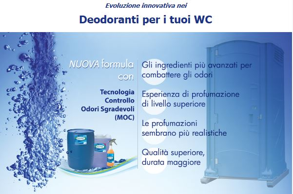 SATELLITE INDUSTRIES – Deodoranti per bagni mobili